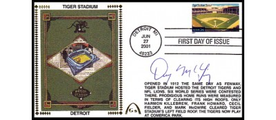 Legendary Playing Fields FDC Tiger Stadium (Deny McLain ) Hand Cancel