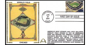 Legendary Playing Fields FDC Wrigley Field  (Unautographed) Hand Cancel
