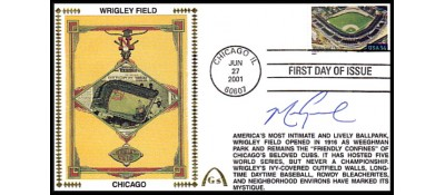 Legendary Playing Fields FDC Wrigley Field  (Mark Grace) Hand Cancel