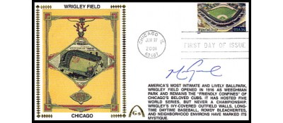 Legendary Playing Fields FDC Wrigley Field  (Mark Grace) Machine Cancel