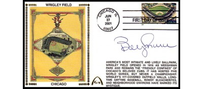 Legendary Playing Fields FDC Wrigley Field (Bobby Murcer) Hand Cancel