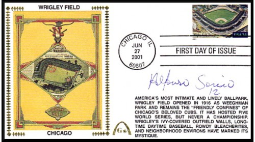 Legendary Playing Fields FDC Wrigley Field (Alfonso Sorirano) Hand Cancel - ONLY 2 Left - NO Discount