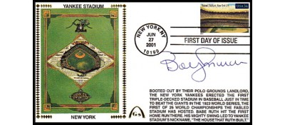 Legendary Playing Fields FDC Yankee Stadium Bobby Murcer (Hand Cancel)