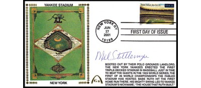 Legendary Playing Fields FDC Yankee Stadium Mel Stottlemeyer  (Hand Cancel)