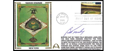 Legendary Playing Fields FDC Yankee Stadium Bob Turley (Machine Cancel)