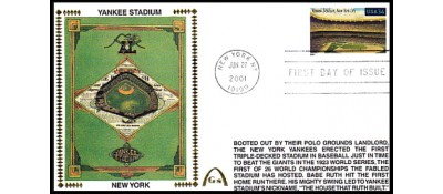 Legendary Playing Fields FDC Yankee Stadium (Unautographed) Machine Cancel