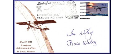 Lindbergh, Charles Anniversary - ADD: Autographs To May 22nd Envelope After Purchase Of Unautographed Set