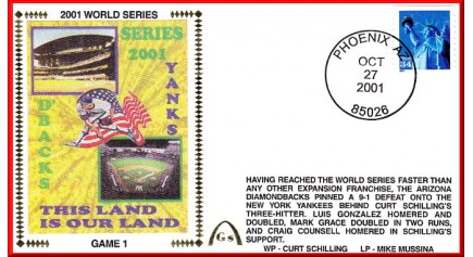 World Series 2001 - New York Vs. Arizona (UNAUTOGRAPHED)