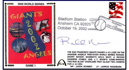 World Series 2002 - San Francisco vs Anaheim - Game 1 (ADD: Rob Nen)