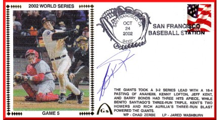 World Series 2002 - San Francisco vs Anaheim - Game 5  (ADD:Jeff Kent)