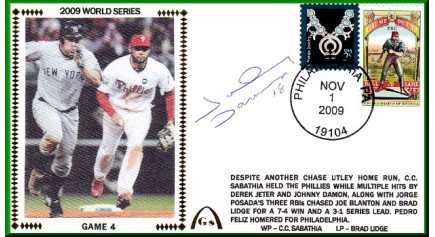 World Series 2009 - New York Vs. Philadelphia (Damon Auto)