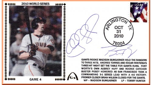 World Series 2010 - San Francisco/Texas (ADD: Posey/Huff Combo)