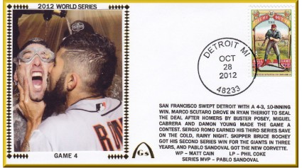 World Series 2012 San Francisco vs Detroit - Game 4 (ADD:Romo/Cain)