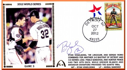 World Series 2012 San Francisco vs Detroit - Game 3  (ADD:Vogelsong)