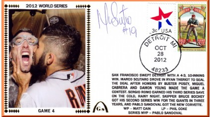 World Series 2012 San Francisco vs Detroit - Game 4 (ADD:Scutaro)