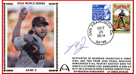 World Series 2014 – San Francisco vs Kansas City - Game 5 (ADD: Madison Bumgarner)