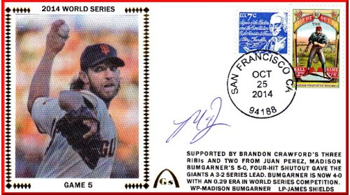 World Series 2014 – San Francisco vs Kansas City - Game 5 (ADD: Madison Bumgarner)  OUT OF STOCK