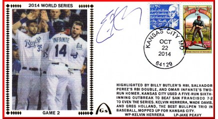 World Series 2014 – San Francisco vs Kansas City - Game 2 (ADD: Eric Hosmer/Mike Moustaka) PRE-ORDER