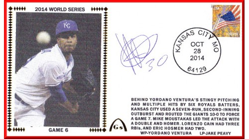 World Series 2014 – San Francisco vs Kansas City - Game 6 (ADD Autograph : Yordano Ventura)