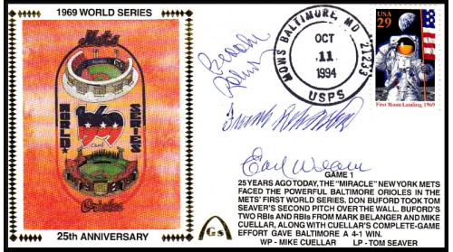 World Series 1969 Set  (Weaver.B.Robinson,/F.Robinson-Gm 1)