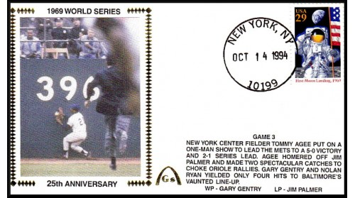 World Series 1969 - ADD:Tommy Agee -Unautographed   (Gm 3)
