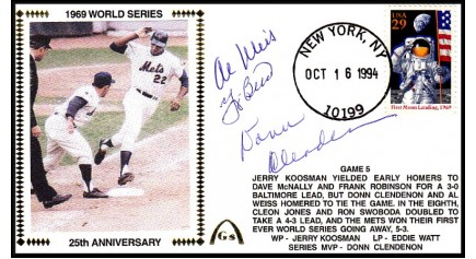 World Series 1969 (ADD:- Berra/Clendenon/Weis-Gm 5)