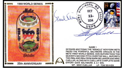 World Series 1969 (Paul Blair & Boog Powell ) -Gm 1)