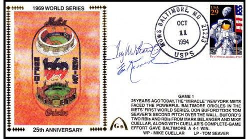 World Series 1969 (Tug McGraw & Ed Kranpool -Gm 1)