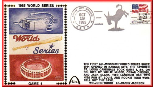 World Series 1985 - St Louis Vs. Kansas City Set Of Seven (Must Include Saberhagen On Gm. 7)