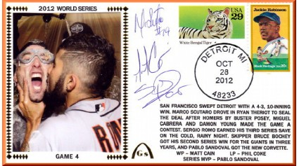 World Series 2012 San Francisco vs Detroit - Game 4 (ADD:Romo/Cain/Scutaro)