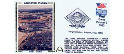 Arlington Stadium -Unautographed (Last Game)  SOLD OUT