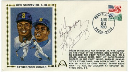 Griffey, Ken Sr.& Jr.(Same Team)