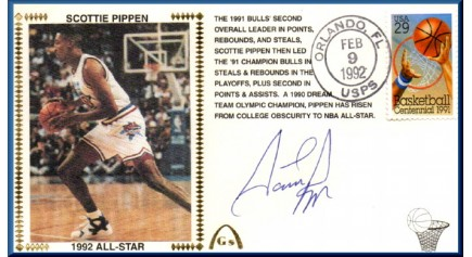 Pippen, Scottie (Error- Signed Under Silk)