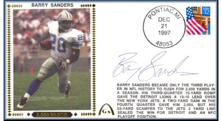 Sanders, Barry (2,000 Yards)