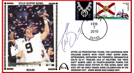 Super Bowl 2010 Miami ( Drew Brees)
