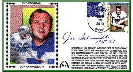 Schmidt, Joe - 90th Anniversary (Long #10 Envelope)